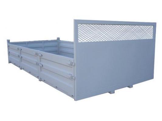 Platforma z dostawianymi burtami metalowymi lub aluminiowymi