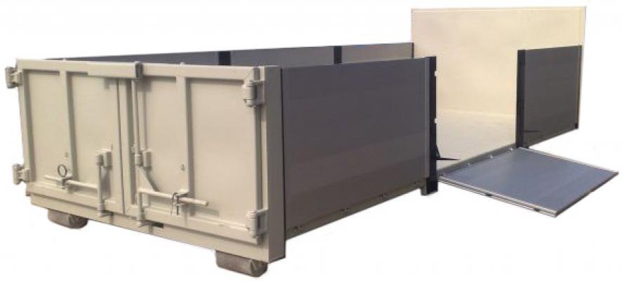 Platforma 14m3 z burtami aluminiowymi